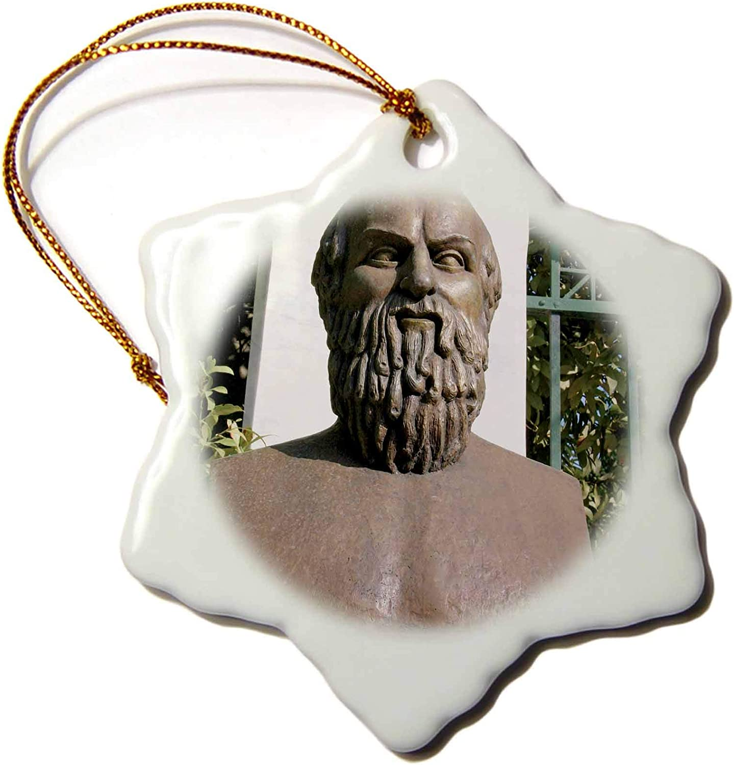 3dRose Aeschylus, Classical Athens Bust, Statue, Athens, Greece - HI02. - Ornaments (ORN_82992_1)