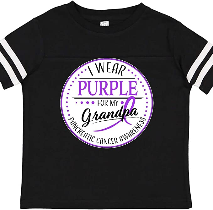 inktastic I Wear Purple for My Grandpa Pancreatic Cancer Awareness Baby T-Shirt