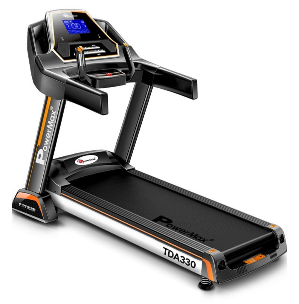 Powermax Fitness TDA-330 Motorized Treadmill with Auto Inclination