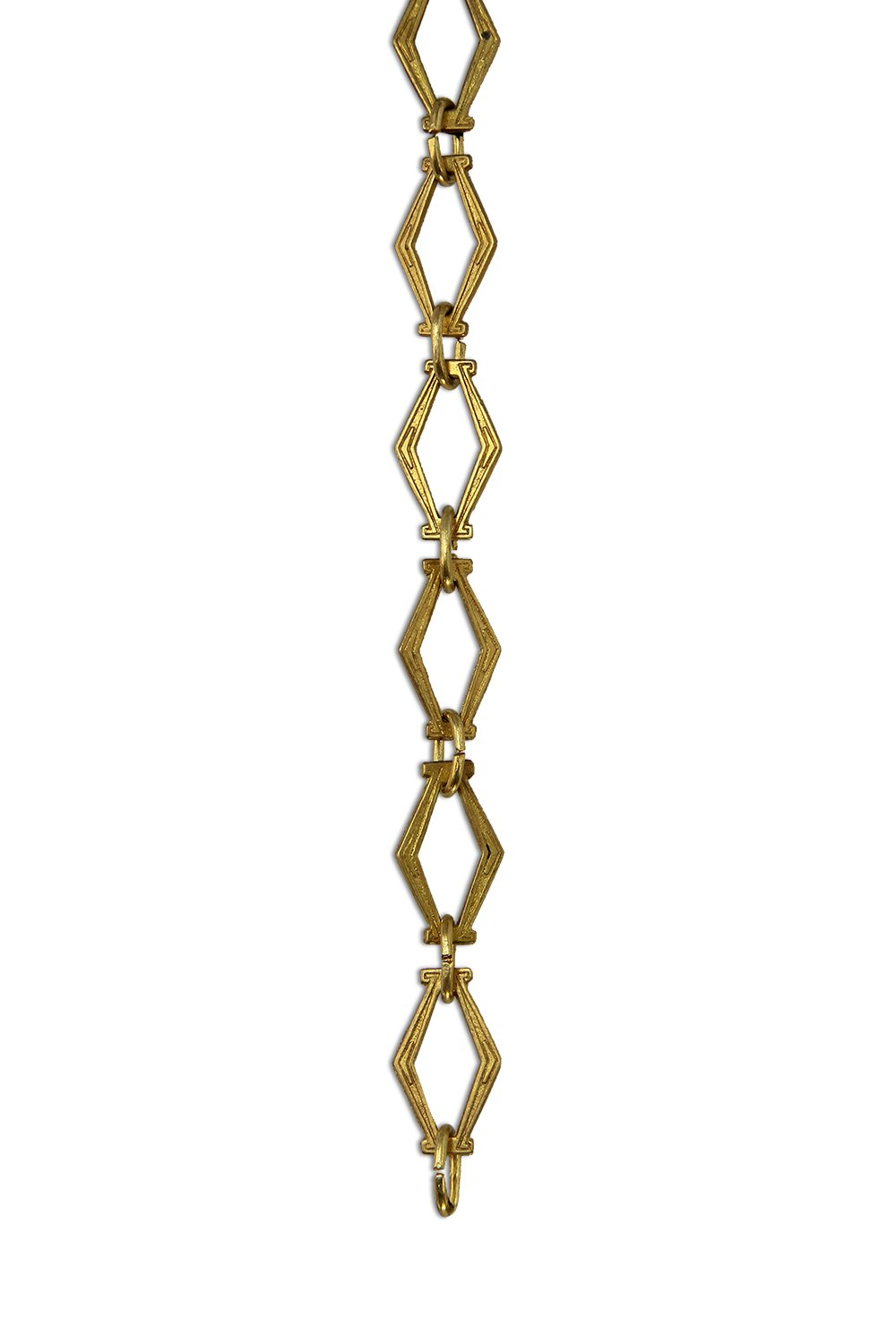 RCH Hardware CH-22-AD Decorative Acid Dipped Solid Brass Chain for Hanging, Lighting - Hexagonal Design Unwelded Links (1 Foot)