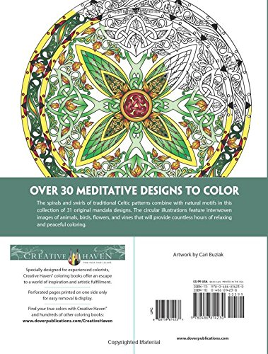 Amazon Creative Haven Celtic Mandalas Coloring Book Books 0800759814237 Cari Buziak