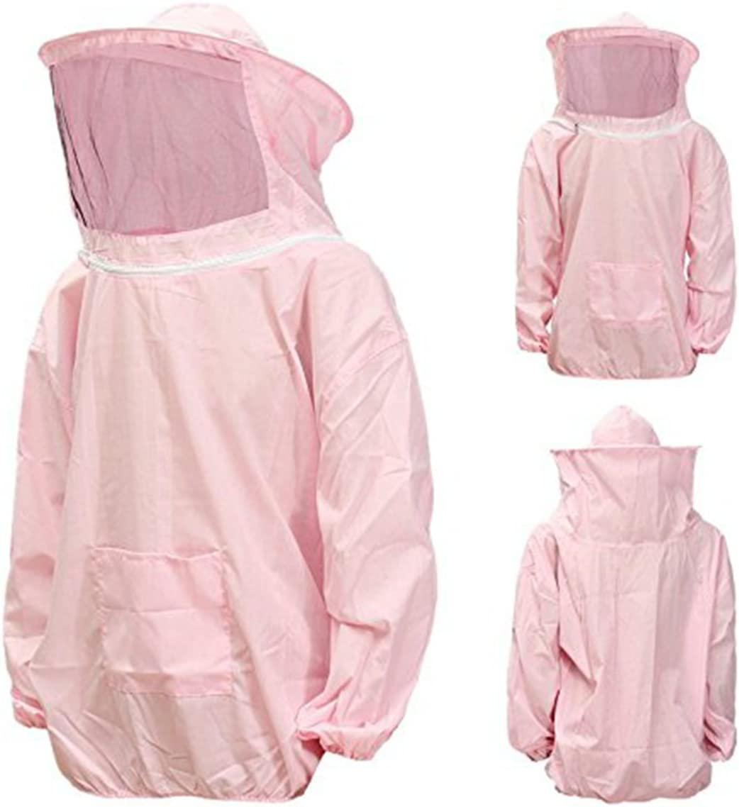 New Large Beekeeping Bee Keeping Suit Jacket Pull Over Smock with Veil New
