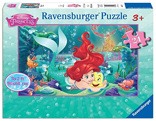 Ariel Puzzle - Ravensburger 05468 Hugging Arielle 24 Piece Jigsaw Puzzle for Kids - Every Piece is Unique, Pieces Fit Together Perfectly