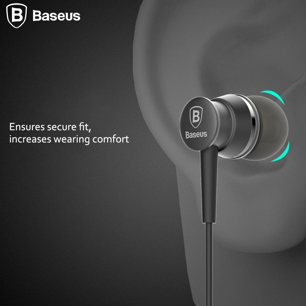 Earphones, Baseus® Lark Series 3.9ft Audio Noise-isolating In-Ear Wired Headset Headphone w/Mic Microphone 3.5mm Jack For ...
