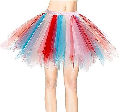 Lantch Falda Mujer de Noche Clásico Multicapa Tul Ballet Cortas ...