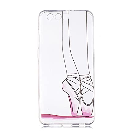 Huawei Honor 9 Case,pretty zapatillas de ballet Pattern Ultra Thin Soft TPU Gel Case