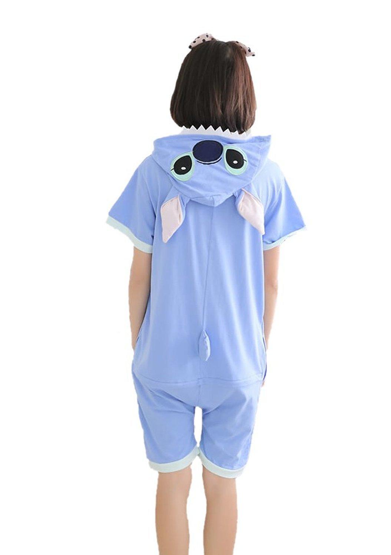 Yimidear Unisex Stitch Costume Summer Cute Cartoon Cotton Pajamas Animal Onesie (L) by Yimidear (Image #2)