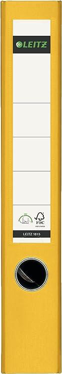 1642 Leitz R/ückenschilder gelb 61x191mmBreit kurz
