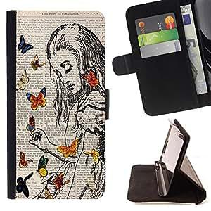 Dragon Case - FOR Apple Iphone 4 / 4S - for the happiness - Caja de la carpeta del caso en folio de cuero del tirš®n de la cubierta protectora Shell