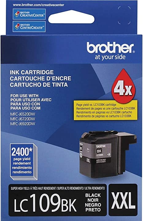 Amazon.com: Brother LC3019BK Cartucho de tinta negro de alto ...