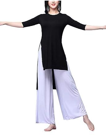 Jueshanzj - Moderna Traje de Danza con Largo Pantalones ...