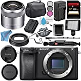 Sony Alpha a6300 Mirrorless Digital Camera (Black) ILCE6300/B + Sony E 30mm f/3.5 Macro Lens SEL30M35 + NP-FW50 Replacement Lithium Ion Battery + External Rapid Charger Bundle