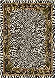 Milliken Signature Collection Jungle Safari Rectangle Area Rug, 7'8″ x 10'9″, Snow leopard