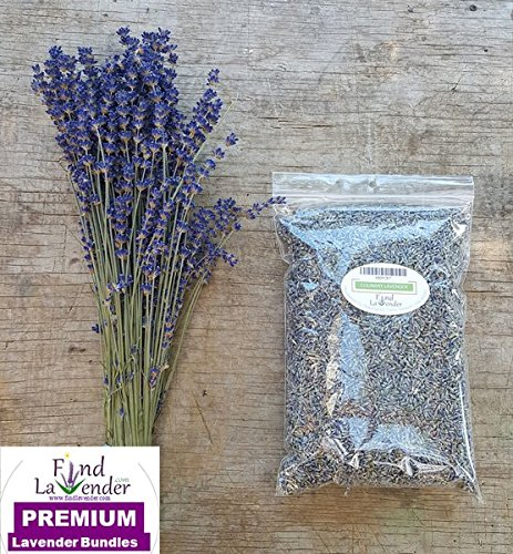 Findlavender - One 4oz Culinary Lavender and One Culinary Bundle 16