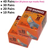 Toe Foot Warmers Disposable with Adhesive Back, Air Activated Heating Patch Long Last for 8 Hours