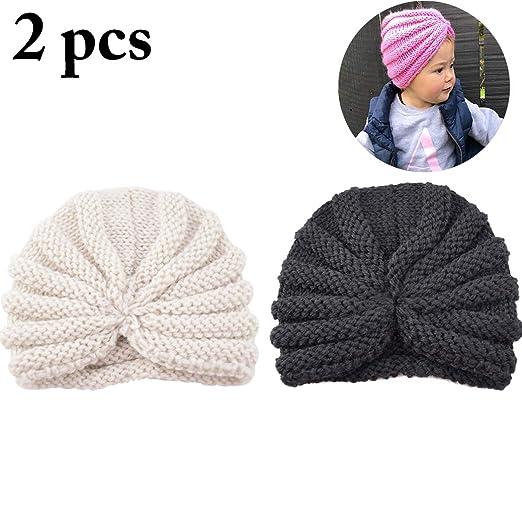 f536d6577 Amazon.com: Zoylink 2PCS Baby Hat Soft Hat Fashion Warm Knitted Hat ...