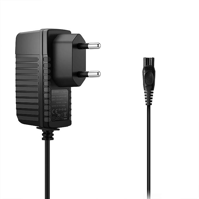 Aukru Cargador 15 V 500 mA alimentación Cargador para afeitadora eléctrica Philips PT920, PT860/16, PT720/17, PT860 ...