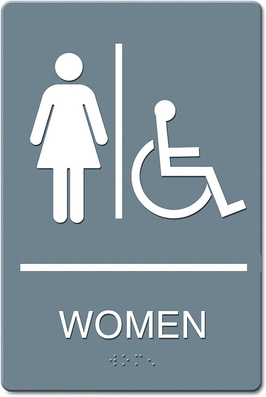 """Handicap Accessible Quartet Women Bathroom Sign ADA Approved 6/"""" x 9/"""",..."""