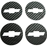NewL Car Styling Carbon Fiber Wheel Center Hub Caps Emblem Sticker for Chevrolet Chevy Cruze 4pcs set 2011 2012