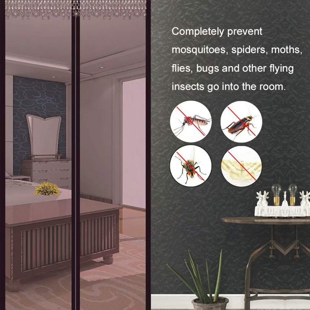 Insektenschutz Magnet Vorhang Fliegengitter Moskitonetz LDHVF Magnetische Screen Door,Fliegengitter T/ür Fliegengitter T/ür ohne Bohren f/ür Balkont/ür Wohnzimmer Terrassent/ür-Brown70*200cm