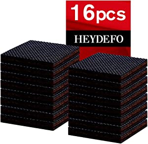 """Rubber Felt Furniture Pads 16 Pcs 1.5"""" - Self Adhesive Floor Protector Chair Pads Wood Furniture Noise Reduction Bumpers, Best Floor Protectors for Your Hardwood"""