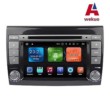 """Wekuo Android 7.1 2G RAM 7"""" DVD GPS para Coche Fiat Bravo 2007 2008 2009"""
