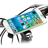 iKross Support Vélo Universel, Fixation sur Y guidon de bicyclette ou Moto pour Apple, Android, iPhone 6S/ 6 / 6 Plus, Samsung Galaxy S6 S6 Edge, Note5, Note 4, HTC one, Sony, HTC - Noir