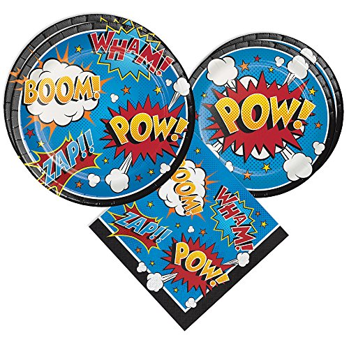 Superhero Party Packs (48 Pieces for 16 Guests,