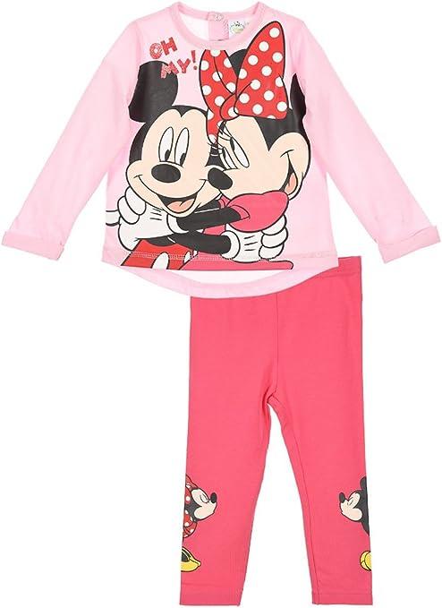 Mallas y camiseta de manga corta para bebé, diseño de Minnie y ...