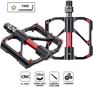 Adsvtech Pedales Ligeros de Bicicleta de montaña con rodamiento 9 ...