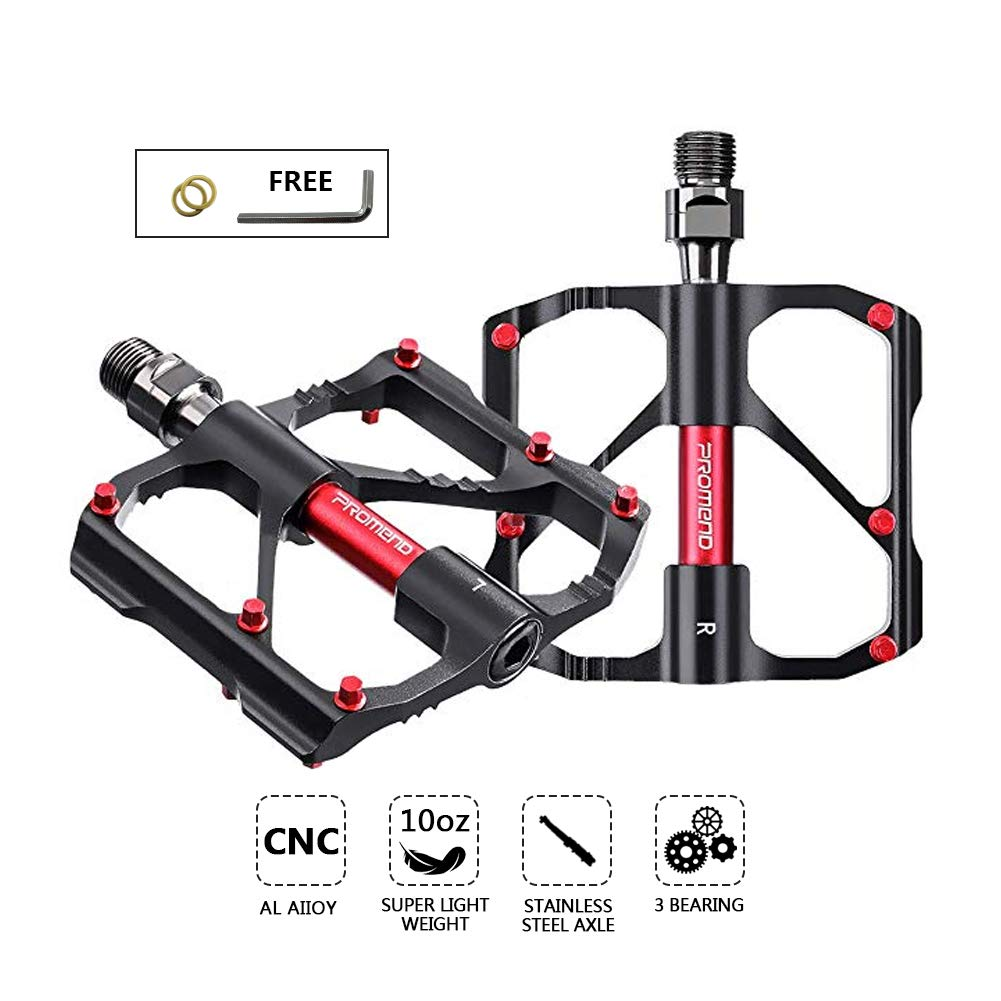 2x Bicycle Mountain MTB BMX Bike Cycling Bearing Alloy Flat-Platform UK 9//16/'/'