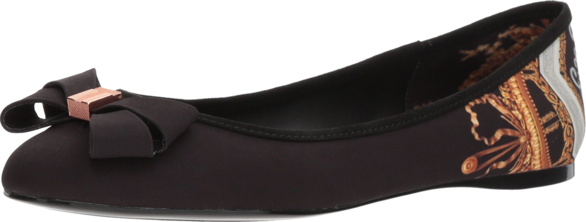 Ted Baker Women's Immep 2 Ballet Flat, Black, 8.5 Medium US