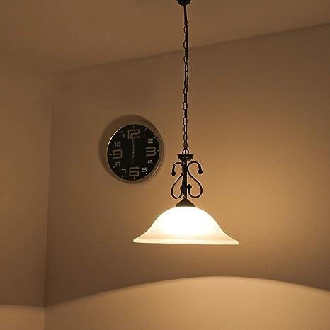 mattschwarze - Lámpara de techo con cristal de alabastro, 1 ...