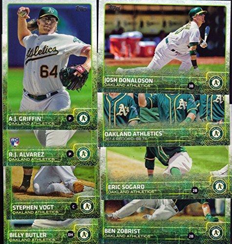 (Oakland Athletics 2015 Topps MLB Baseball Regular Issue Complete Mint 23 Card Team Set with Scott Kazmir, Sonny Gray Plus)