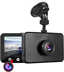 """VSYSTO Dual Dash Cam Driving Recorder FHD DVR Camera Front and Interior Spy Hidden Baby Monitor Dual 1080P Camera with WiFi 4.3"""" for Taxi Car Truck"""