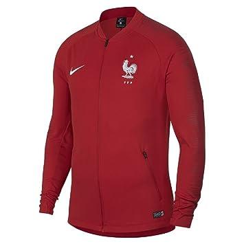 Nike France FFF Anthem WM 2018 Veste Homme, Rouge, FR : L