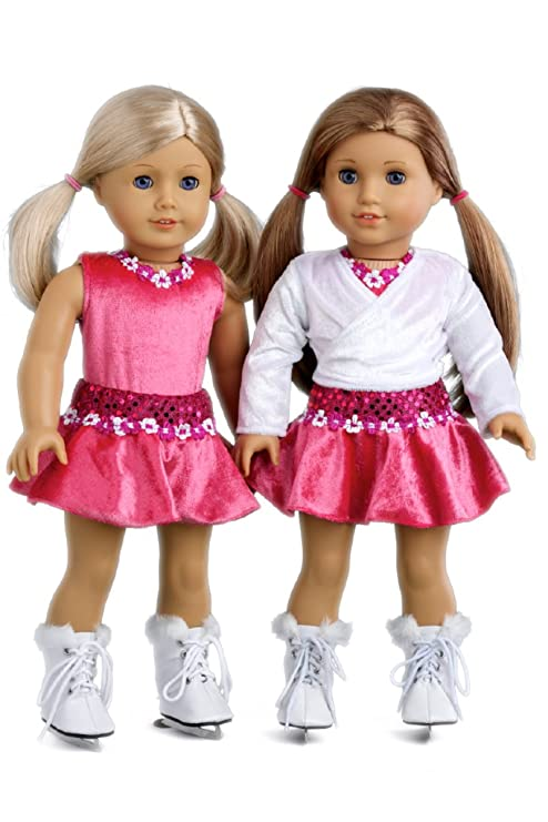 Ice Skating Girl - 4 Piece Ice Skating Outfit Fits 18 Inch American Girl  Doll - 689609a84769