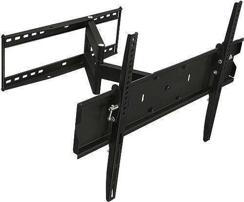 Mount-It MI-346L Swivel TV Wall Mount Full Motion for Flat Screens, 32 35 40 45 50 55 60 65 Inch LCD LED Plasma Screen TV, VESA 600x400mm, 110 Lb Weight Capacity, Black