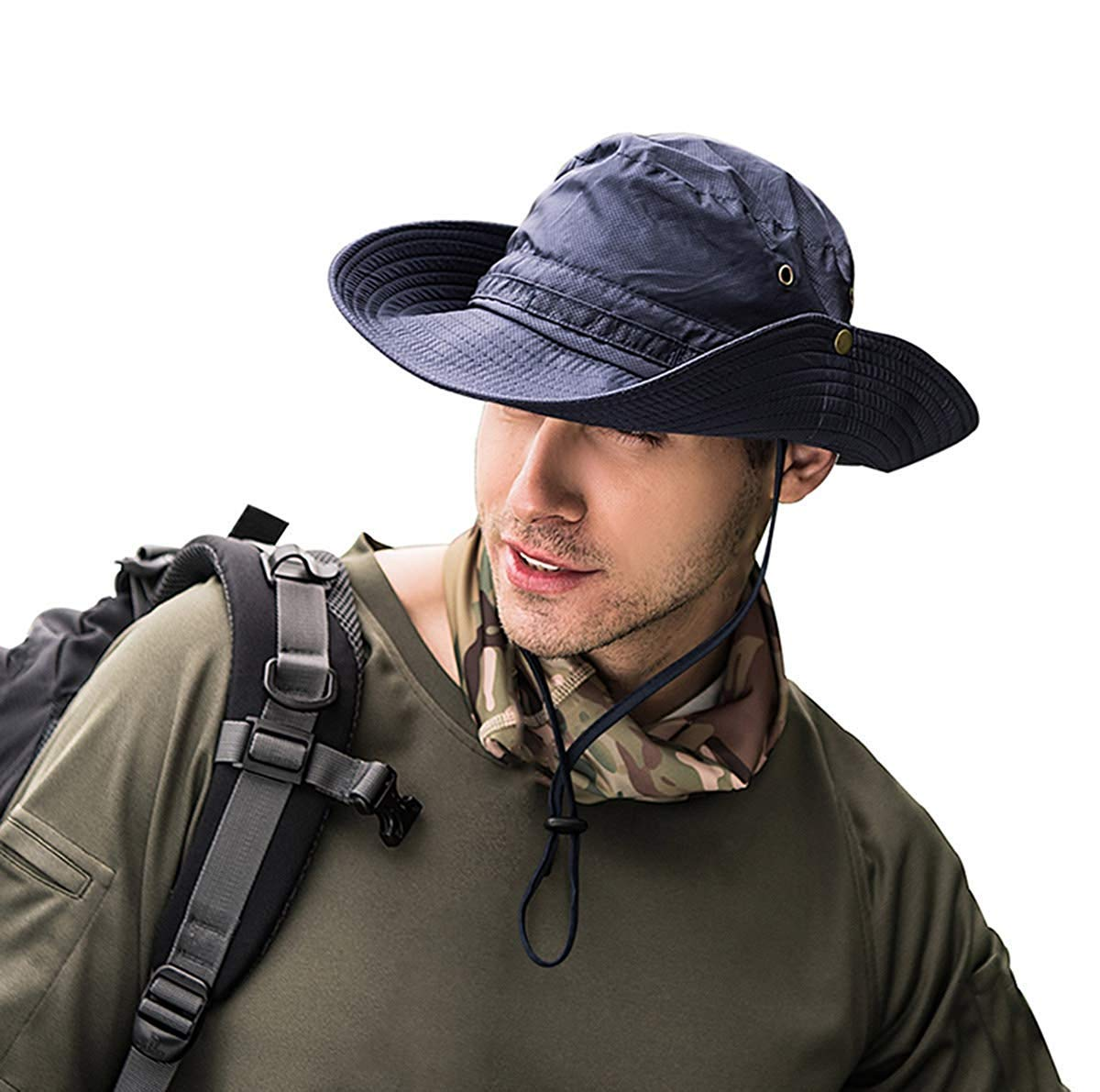 TUSFTAY Sunscreen Hat Cooling Hat Ice Cap Heatstroke Protection Cooling Cap Wide Brim Sun Hat with UV Protectionfor Men Women