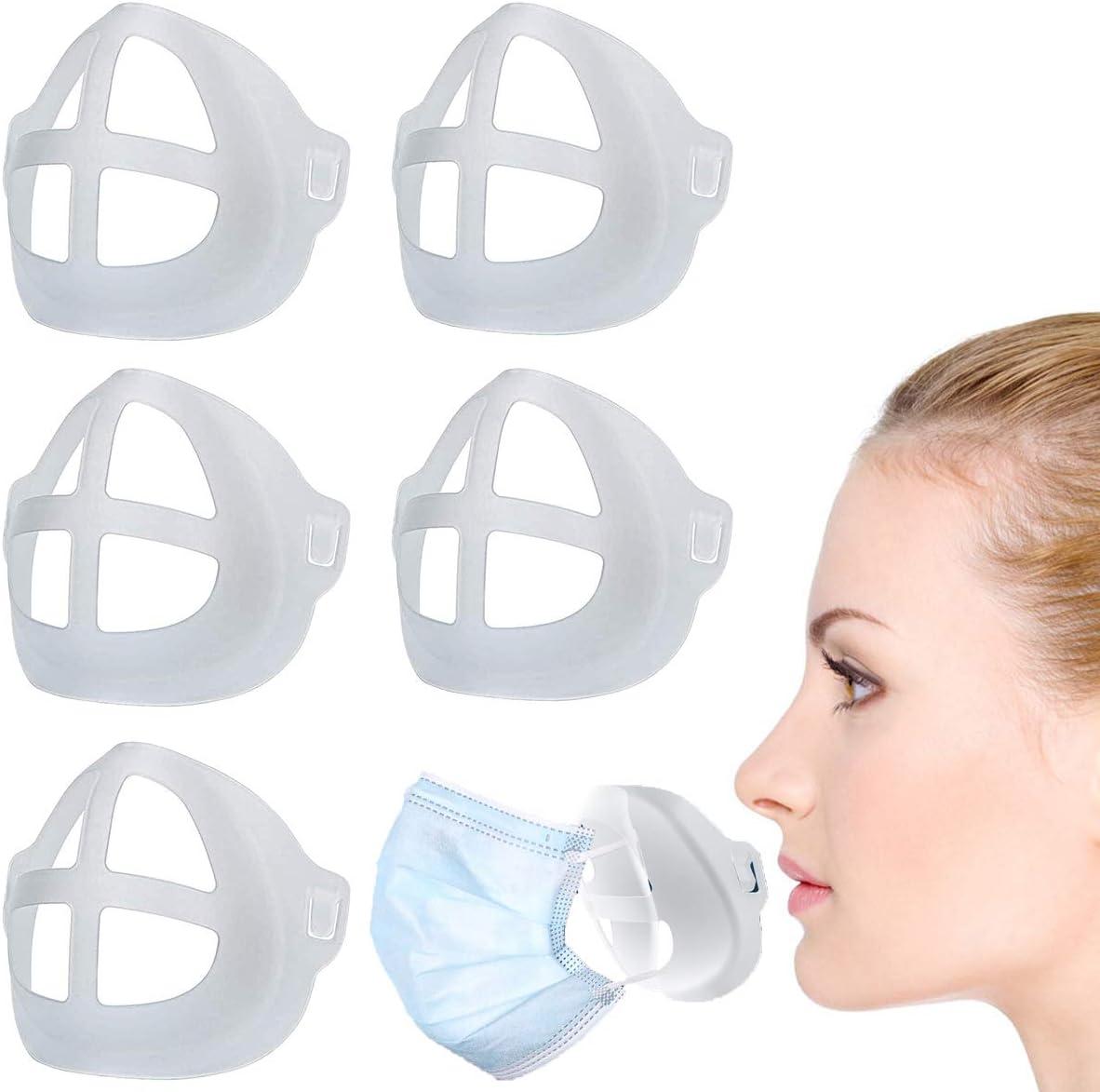 Bovldemt Soporte Reutilizable para la protección del lápiz Labial de la máscara Aumente el Espacio de respiración Ayuda a Respirar Suavemente Lavable
