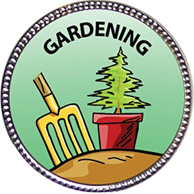 Keepsake Awards Gardening Award, 1 inch Dia Silver Pin Around The Home Collection: Toys & Games