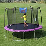 Skywalker-Trampolines-12-Feet-Jump-N-Dunk-Trampoline-with-Safety-Enclosure-and-Basketball-Hoop