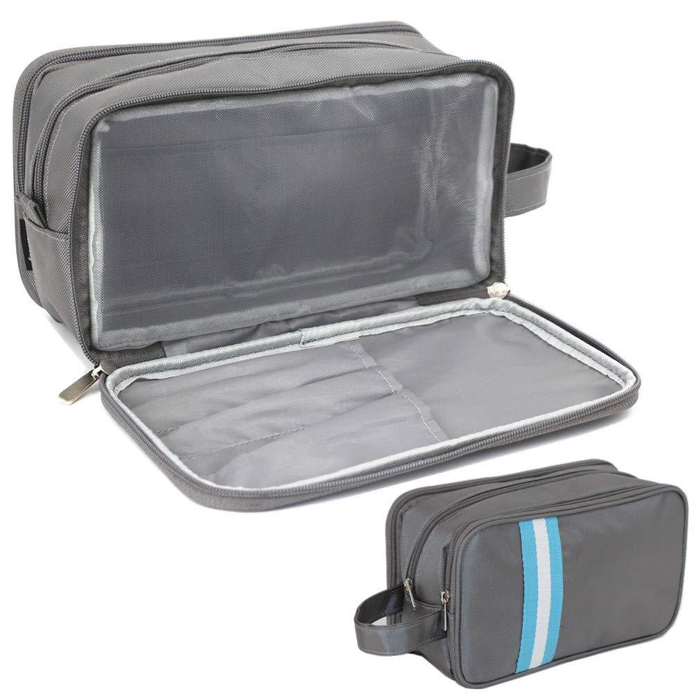 Mens Toiletry Bag Black Waterproof Dopp Kit for Men Hanging Travel Shaving Wash Bags