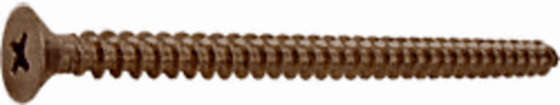CRL Brushed Bronze #10 x 3'' Wall Mounting Flat Head Phillips Sheet Metal Screw - Package