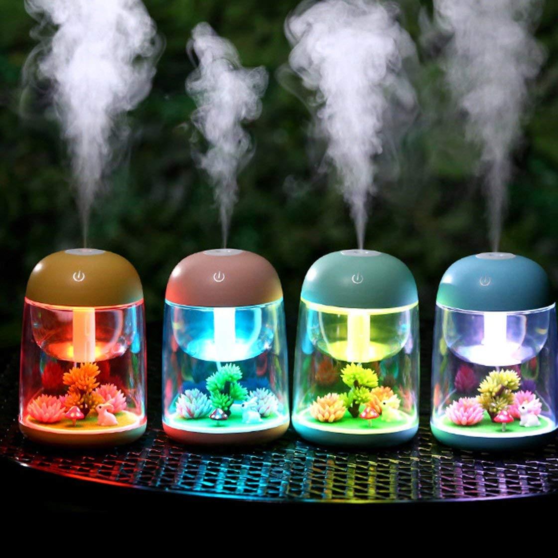 Gwendoll Mini USB Ultrasons Humidificateur Sp/écial Design Air Humidificateur Aroma Diffuseur dHuile Essentielle Aromath/érapie pour Office Spa