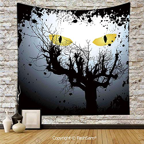 FashSam Tapestry Wall Hanging Scary Eyes Backgrounded Leafless Old Branch Angry Hunt Animal Creature Tapestries Dorm Living Room Bedroom(W59xL78)]()