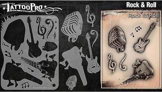 Tatuaje Pro Plantillas Serie 2 - Rock and Roll: Amazon.es ...