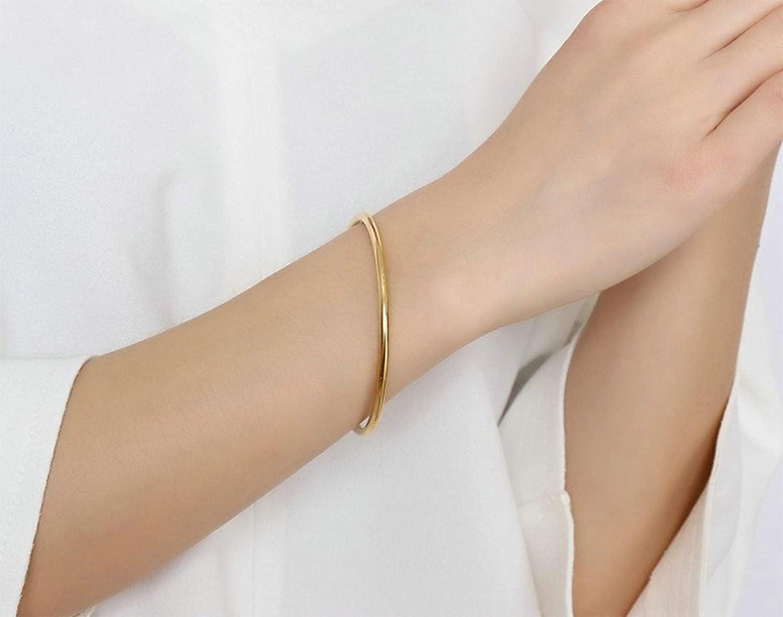 KnSam Women Bracelets Fashion Stainless Steel Women Bangle Bracelets High Polished