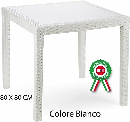 Tavolo In Rattan Bianco.Savino Fiorenzo Tavolo Tavolino King In Dura Resina Finto Rattan