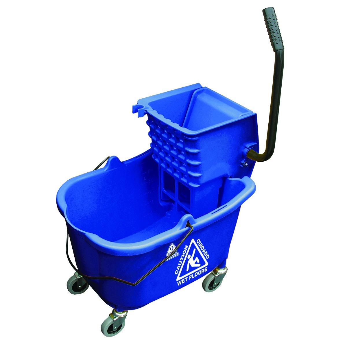 O'Cedar Commercial 6975 MaxiRough Mop Bucket and Wringer, Blue